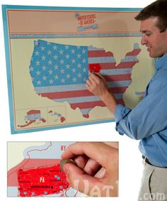 Track travels with a scratch off map! great for families and classrooms