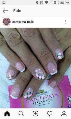 Floral Nail Art, Pink Nail Art, Duck Nails, Pretty Hands, Nail Art Designs, Polish, Nail Hacks, Nail Art, Art Nails