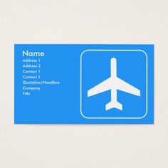 Airline Business Cards