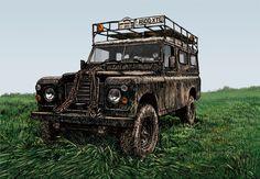 Series III Land Rover lwb at Newark