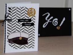 Itsetehty ylioppilaskortti ja kuori / Handmade graduation card
