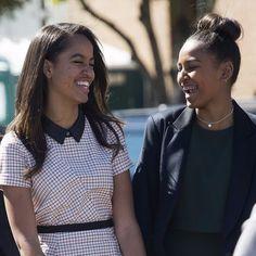Sasha and Malia Obama Through the Years | POPSUGAR Celebrity