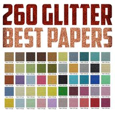 260 Glitter Best Scrapbook Digital Papers by sergiorobertoarts