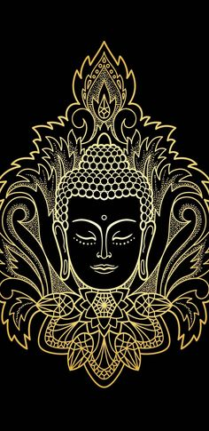Art Discover Meditation Mantra Perfect mantra for cleaning your soul. Buddha Kunst, Buddha Kopf, Buddha Art, Buddha Head, Buddha Tattoo Design, Buddha Drawing, Buddha Painting, Mandala Design, Mandala Art