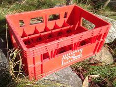 Caisse en plastique The Pop Shoppe – plastic crate  années 1970 – caisse fabriquée par UPM - 35$