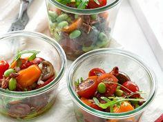 Tomatensalat mit Speck-Vinaigrette