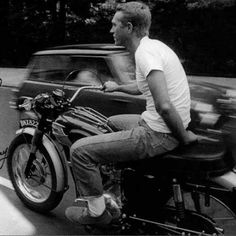 Steve McQueen being bad ass. Nothing cooler, ever. Real bikers spiritual leader