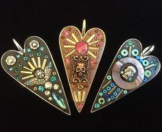 Mosaic pendants by Sally May Kinsey