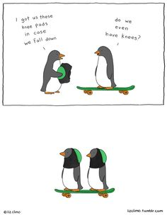 New Wonderfully Witty Animal Comics by Liz Climo - Penguin Funny - Funny Penguin meme - - New Wonderfully Witty Animal Comics by Liz Climo My Modern Met The post New Wonderfully Witty Animal Comics by Liz Climo appeared first on Gag Dad. Funny Shit, Funny Cute, Funny Memes, Hilarious, Funniest Memes, Jokes, The Simpsons, Liz Climo Comics, Tierischer Humor