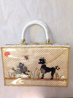 1950 S Wicker Novelty Poodle Handbag By Honeycatvintage On Etsy 75 00 Poodles Kitsch