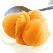 Mango Sorbet -- this would make a lovely ending to a summertime Indian meal!