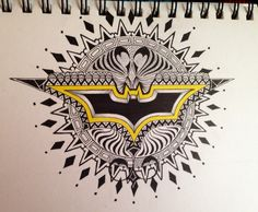 Batman zentangle  By secko
