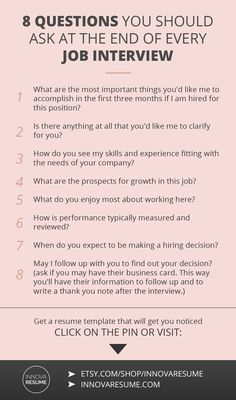 Questions you should ask at the end of every job interview. Need a resume that will land you a job interview? Informations About 8 Questions You Should Ask At Every Job Interview Pin You can easily us Job Interview Preparation, Interview Skills, Job Interview Tips, Job Interview Questions, Job Interviews, Preparing For An Interview, Interview Tips Weaknesses, Good Interview Answers, Parenting Tips