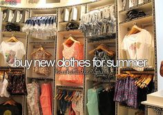 Buy New Clothes For Summer