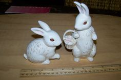 Hey, I found this really awesome Etsy listing at https://www.etsy.com/listing/229765164/adorable-bunny-ceramic-figurines