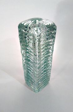 Czech art glass vase by František Vízner Škrdlovice