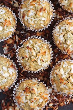These soft and fluffy Toasted Coconut Banana Muffins are simply delicious! Made from oat flour, these muffins are gluten-free, dairy-free, refined sugar free and vegan.