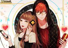 Mystic Messenger- Seven (Choi Saeyoung /Luciel)(707) x Mc #Otome #Game #Anime. Susanghan Messenger