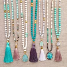 Diy Jewelry Ideas : Mala Beads -Read More – Tassel Jewelry, Beaded Jewelry, Jewelery, Handmade Jewelry, Jewelry Necklaces, Unique Jewelry, Swarovski Jewelry, Trendy Jewelry, Resin Jewelry