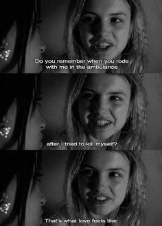 Cassie and Jal. Cassie was so sad and fragile throughout the entire storyline, but she never saw how many people truly cared about her. I wonder how many people are just like that in the world Cassie Skins, Best Tv Shows, Best Shows Ever, Favorite Tv Shows, Favorite Things, Skins Uk, Tv Show Quotes, Film Quotes, Horror Movie Quotes