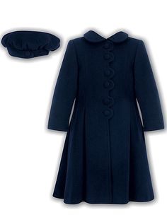 Sarah Louise Little Girls & Girls Navy Dress Coat Winter | llbd shop