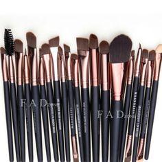 Profesional 20 unids cepillo del maquillaje herramientas maquillaje neceser lana marca de maquillaje cepillo conjunto pincel