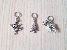 Christmas stitch markers - progress keepers
