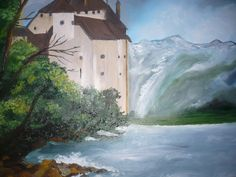 The castle Castle, My Arts, Passion, Painting, Painting Art, Paintings, Drawings, Castles