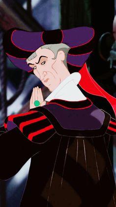 *JUDGE CLAUDE FROLLO ~ The Hunchback of Notre Dame, 1996 All Disney Movies, Disney Art, Disney Pixar, Walt Disney, Frollo Disney, Judge Claude Frollo, Notre Dame Disney, Tom Hulce, Dreamworks Movies
