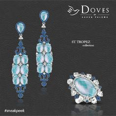 We're excited to give our fans a #sneakpeek at our newest collection: St. Tropez from Doves...a new take on #turquoise with incredible iridescence and luster.