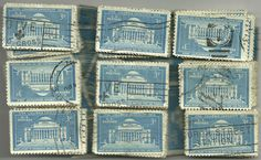 #1029 -3¢ x 100 Used US Stamps Lot Columbia University Issue See our other lots