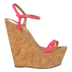 Pink Heels, High Heels Stilettos, Wedge Sandals, Cork Wedges, Dsquared2, Me Too Shoes, Open Toe, Heeled Mules, Beige