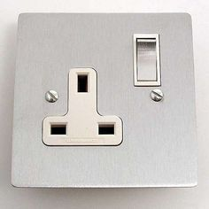 Victorian Plug Socket Satin Chrome 1 Gang Switched Toggle Light Switch, Grand Designs, Victorian Homes, Plugs, Chrome, Satin, Lights, Glasgow, Barns