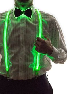 Smart LED Neon Light Up Bow Tie for Raves Dance Dinner Parties and Festivals - Green Glow In Dark Party, Glow Stick Party, Glow Sticks, Rave Wedding, Trendy Wedding, Wedding Gifts, Light In The Dark, Light Up, Party Deco