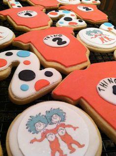 Dr. Seuss Baby Shower Cookies  Twin Shower by CookieTrayCookies, $29.00