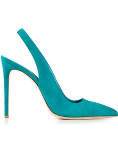 Why not try a bright pump!? This is a wardrobe stable. GIANMARCO LORENZI Classic Slingback Pumps