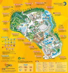 Adventure Cove Waterpark - Park Map