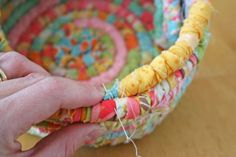 Make a fabric Easter basket tutorial