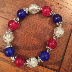 4th of July bracelet! by Sparkles4youwithlove on Etsy