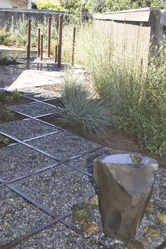 Wood Framed Gravel  Jeffrey Gordon Smith Landscape Architecture