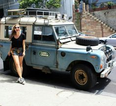 Land Rover 88 Series III Sw adventure and nice girl. So nice so.                                                                                                                                                                                 More