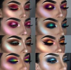 Eye Makeup Tips.Smokey Eye Makeup Tips - For a Catchy and Impressive Look Metallic Eyeshadow Palette, Shimmer Eyeshadow, Eyeshadow Looks, Eyeshadow Makeup, Glitter Makeup, Mac Makeup, Makeup Geek, Colorful Eyeshadow, Colorful Makeup