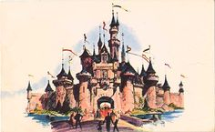 sleeping beauty castle disneyland drawing - Google Search
