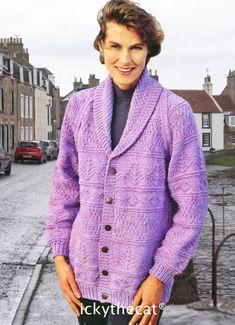 Pdf Patterns, Knitting Patterns Free, Vintage Patterns, Free Knitting, Women's Jackets, Jackets For Women, Vintage Knitting, Digital Pattern, Men Sweater
