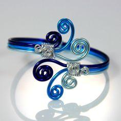Spiral Burst Adjustable Bracelet by melissawoods on Etsy