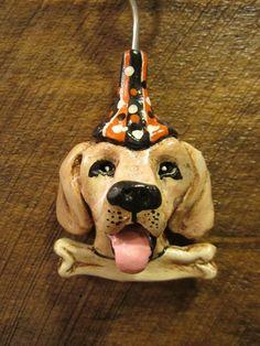 Custom Dog Halloween Ornament by WolfsFolkArt on Etsy, $20.00