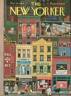 Witold Gordon, March 18, 1944 New Yorker cover.