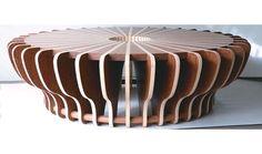 Coffee table by Julia Krantz – Design & Trend Report Furniture Ads, Cardboard Furniture, Unique Furniture, Furniture Projects, Table Furniture, Furniture Design, Furniture Websites, Inexpensive Furniture, Furniture Stores