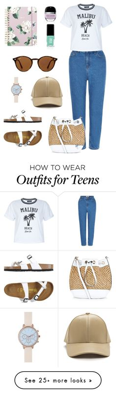 """""""#casual16"""" by maynguyen235 on Polyvore featuring New Look, Birkenstock, ban.do, Jin Soon and Ray-Ban"""