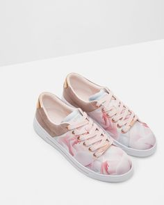 Printed trainers - Nude Pink | Shoes | Ted Baker